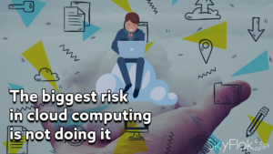 The biggest risk in cloud computing is not doing it