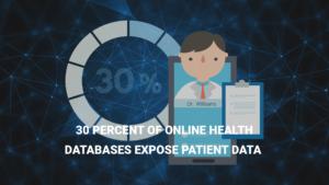 30 Percent of Online Health Databases Expose Patient Data